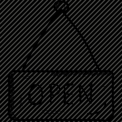 Shop, open, store icon