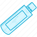 drive, pd, pen icon
