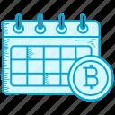 bitcoin, calendar, date icon