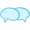 bubble, chat, speech icon