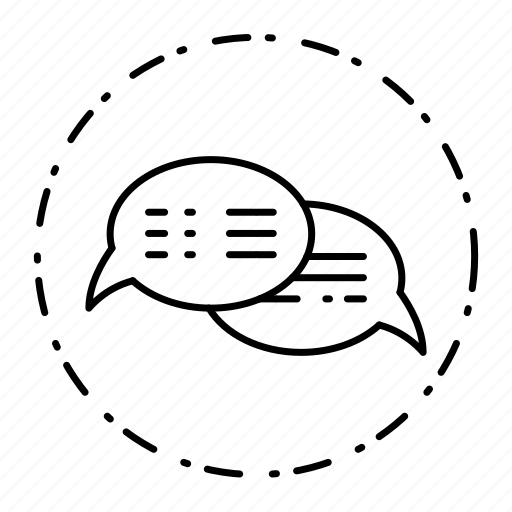 bubble, chat, communication, conversation, dotted, message icon