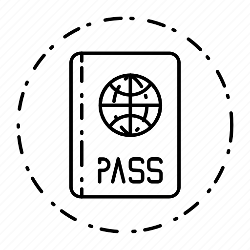 dotted, id, identification, pass, passport, security icon
