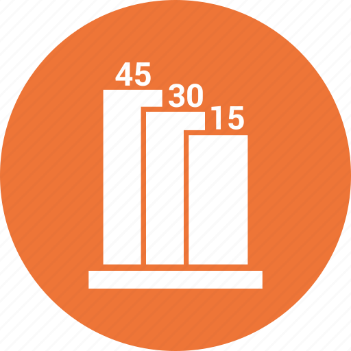 bar chart, business graph, business growth icon