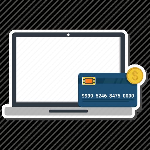 atm, bank, card, dollar, laptop, money send, online icon