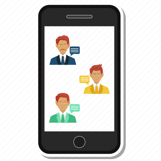 avatar, chat, message, mobile, phone, user icon