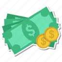 cash, coins, dollar, money icon