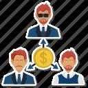 dollar, office, online, relationship, team, work icon