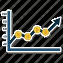 analytics, career, growth icon