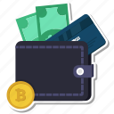 atm, bitcoin, card, coin, money, wallet icon