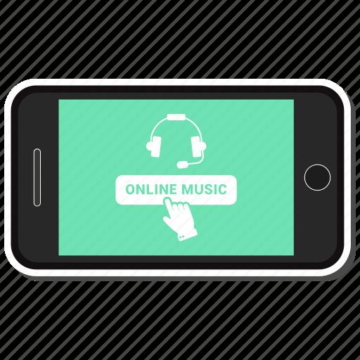 headphone, mobile, music, online icon