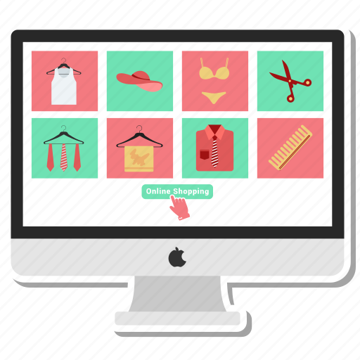 monitor, offer, online pay, pay, sale, shopping icon