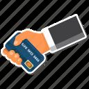 atm, card, credit, debit, hand icon