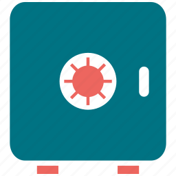 bank, locker, money, safe icon
