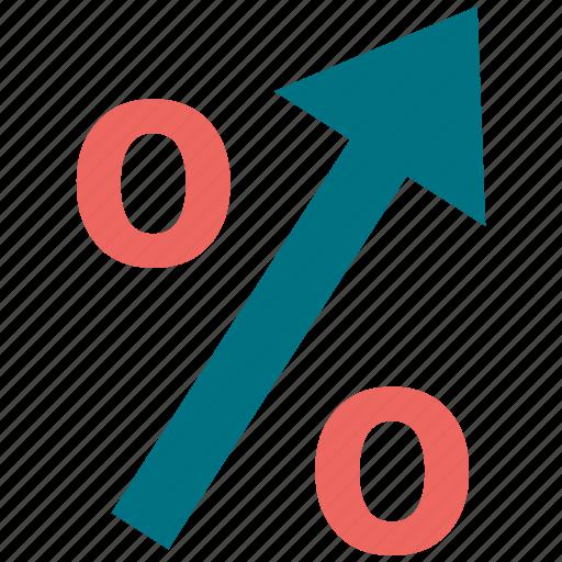 finance, percentage icon