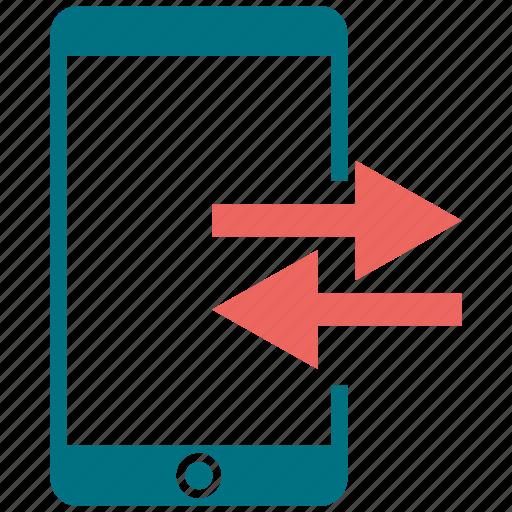 arrow, left, mobile, phone, right, smartphone, telephone icon