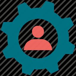 gear, man, setting, setup, tool icon