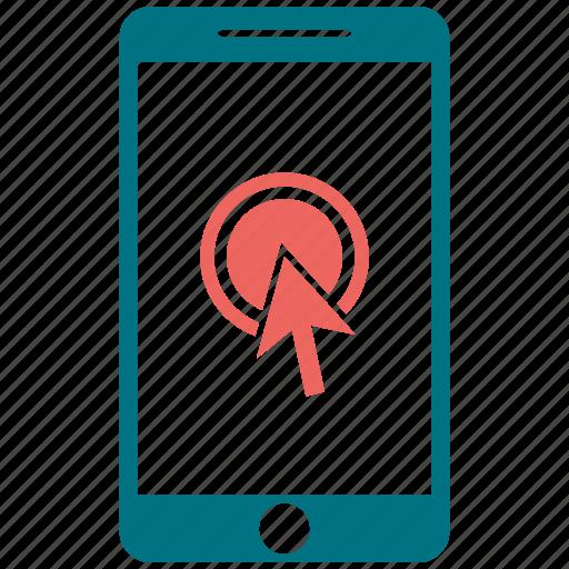 click, mobile, phone icon
