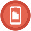 cell phone, growth bar, mobile, phone icon