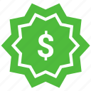 dollar, label, price, price tag, tag icon