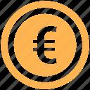 coin, dollar, euro, finance, money