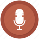 audio, microphone, multimedia, sound icon