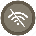 communication, internet, network, off, wifi icon