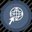 click, earth, globe, world icon
