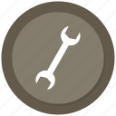 adjustable tool, adjustable wrench, setting tool, tool, wrench icon