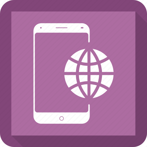 earth, internet, mobile, phone, world icon