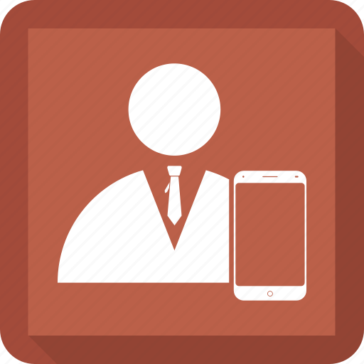 man, mobile, phone, selfie, user icon