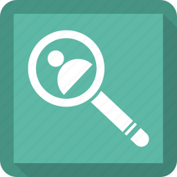 person, search, user, zoom icon