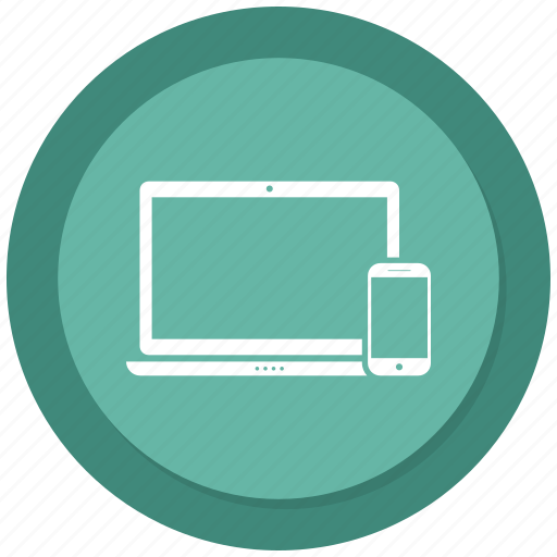 adaptive, devices, laptop, mobile, responsive icon