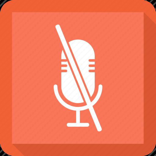 Mic, audio, off, microphone icon
