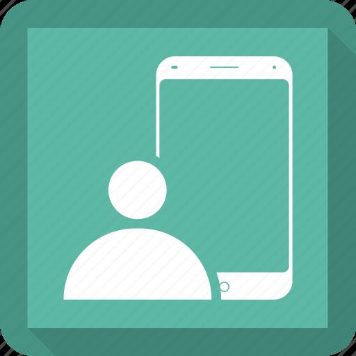 concept, man, mobile, reality, virtual icon