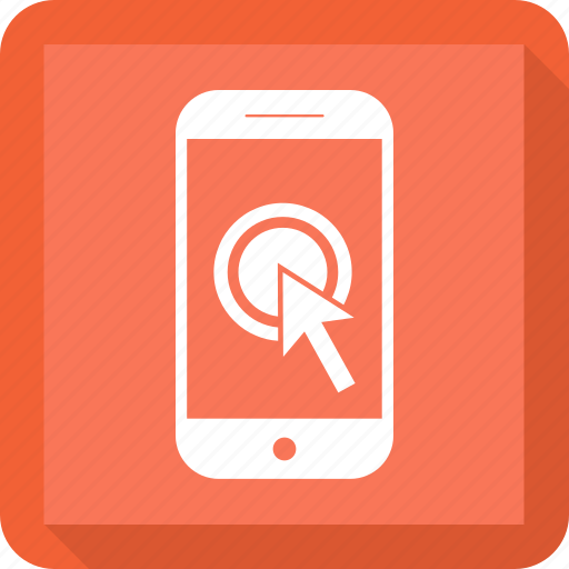 click, finger, hand, mobile, phone, smartphon icon