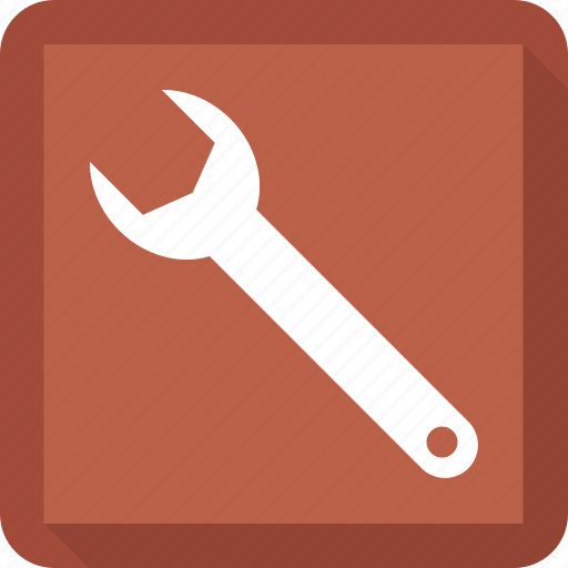 Adjustable wrench, tool, adjustable tool, setting tool, wrench icon