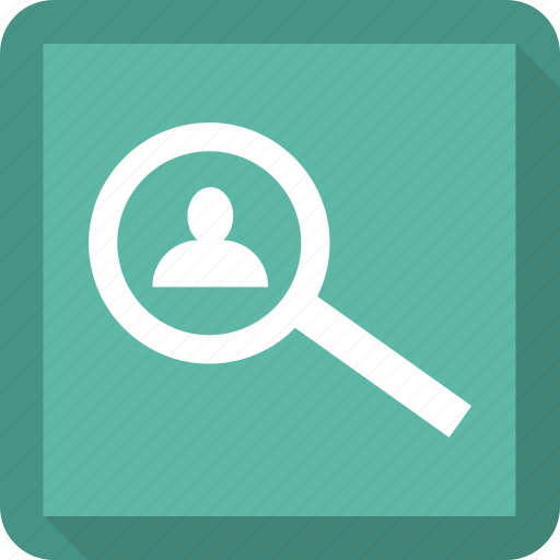 Search, man, user, magnifying icon