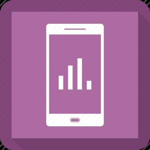 analytics, bar, chart, increase, mobile icon