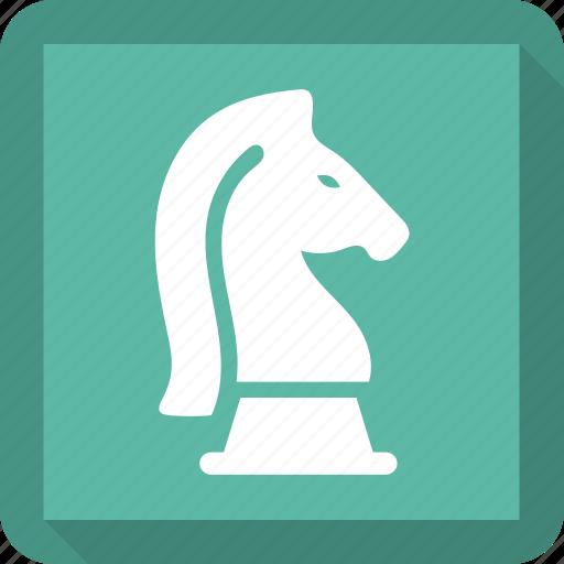 chess, knight, piece, sports icon