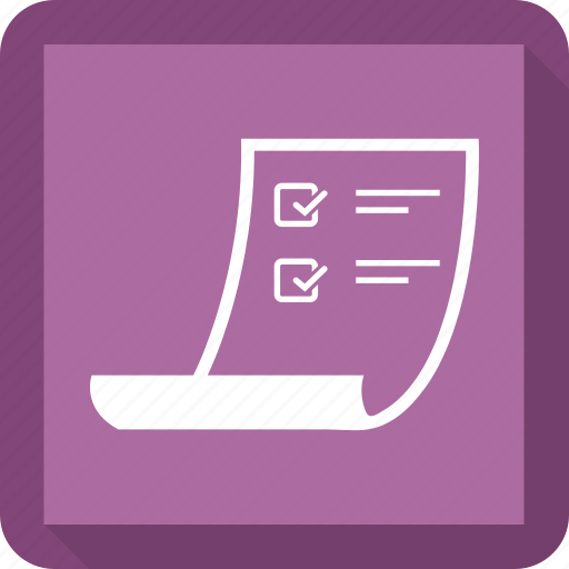 Paper, agreement, scroll icon