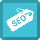 price tag, seo, tag icon