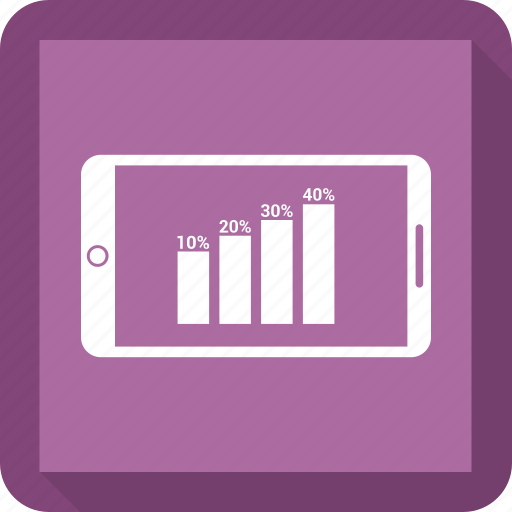 bar, bar chart, business, chart, graph, mobile icon