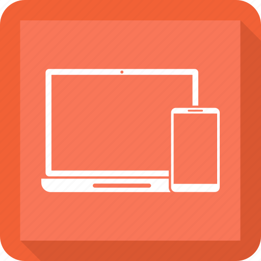 Mobile, adaptive, laptop, devices, responsive devices icon