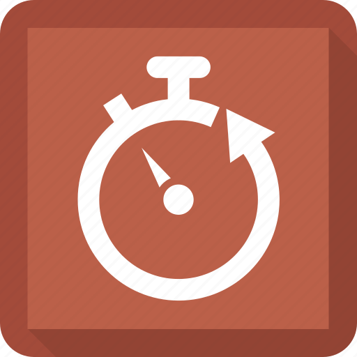 arrow, stop, timer, watch icon