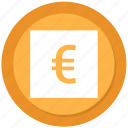 currency, euro, european, money, sign icon