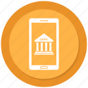 bank, banking, digital banking, mobile banking icon