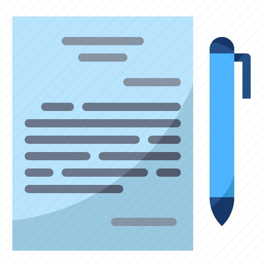 agreement, deal, paper, pen, sign icon