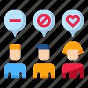customer, employee, like, love, reseaching, target icon