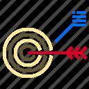 arrow, business, group, organization, target, work, workplace