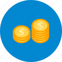 cash, finance, money, stack icon